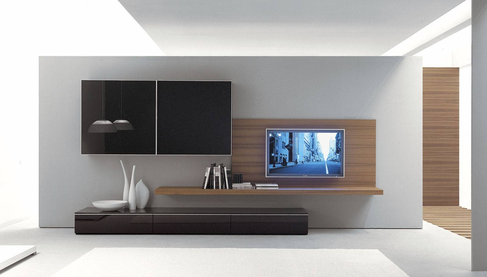Modern Wall Tv Unit Designs - Home Design pertaining to Modern Design Tv Cabinets (Image 15 of 15)