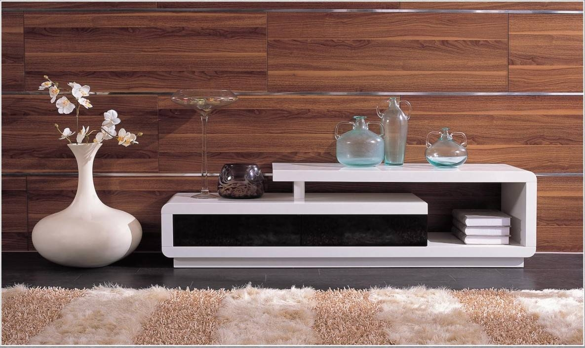 Modern White Lacquer Tv Stand pertaining to Modern Wooden Tv Stands (Image 6 of 15)