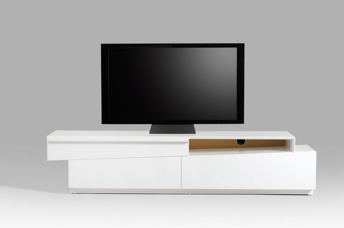 Modrest Cassie Modern White Tv Stand for Contemporary White Tv Stands (Image 11 of 15)