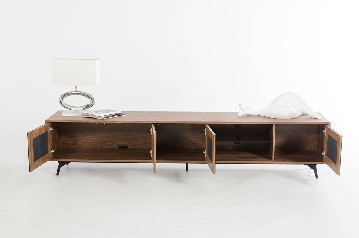 Modrest Kennedy Mid-Century Walnut Tv Stand intended for Modern Walnut Tv Stands (Image 10 of 15)