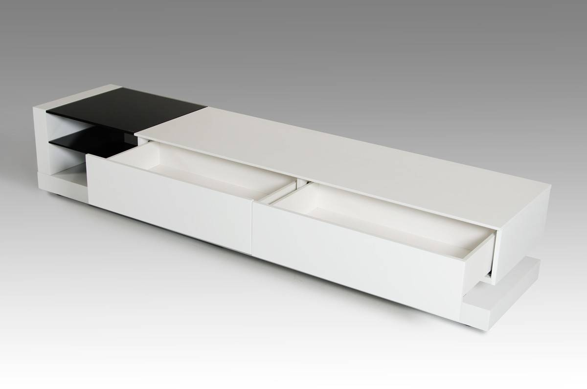 Modrest Mali Modern White Tv Stand pertaining to Modern White Lacquer Tv Stands (Image 15 of 15)