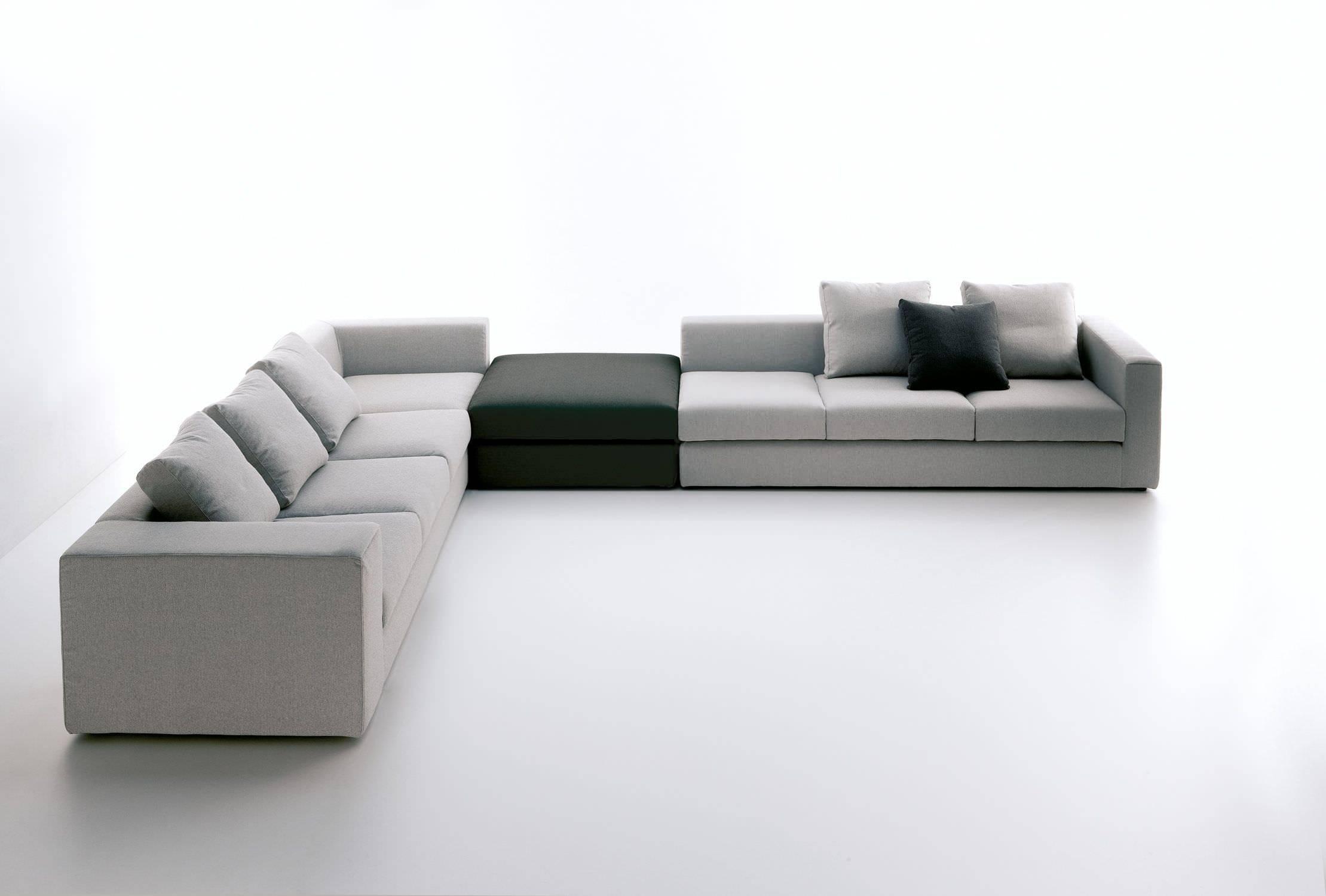 Modular Sofa / Contemporary / Cotton / Leather - Berrystudio within Modular Sofas (Image 10 of 15)