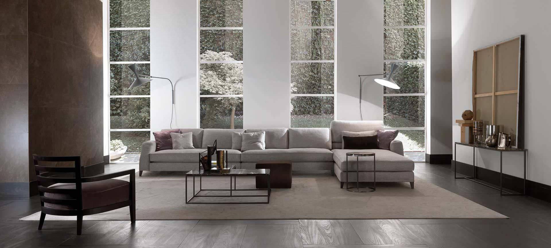 Modular Sofa / Contemporary / Fabric / Leather - Davis Class for Davis Sofas (Image 11 of 15)