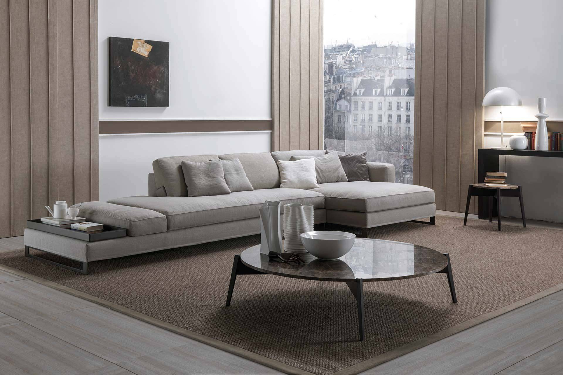 Modular Sofa / Contemporary / Fabric / Leather - Davis Flat intended for Davis Sofas (Image 12 of 15)