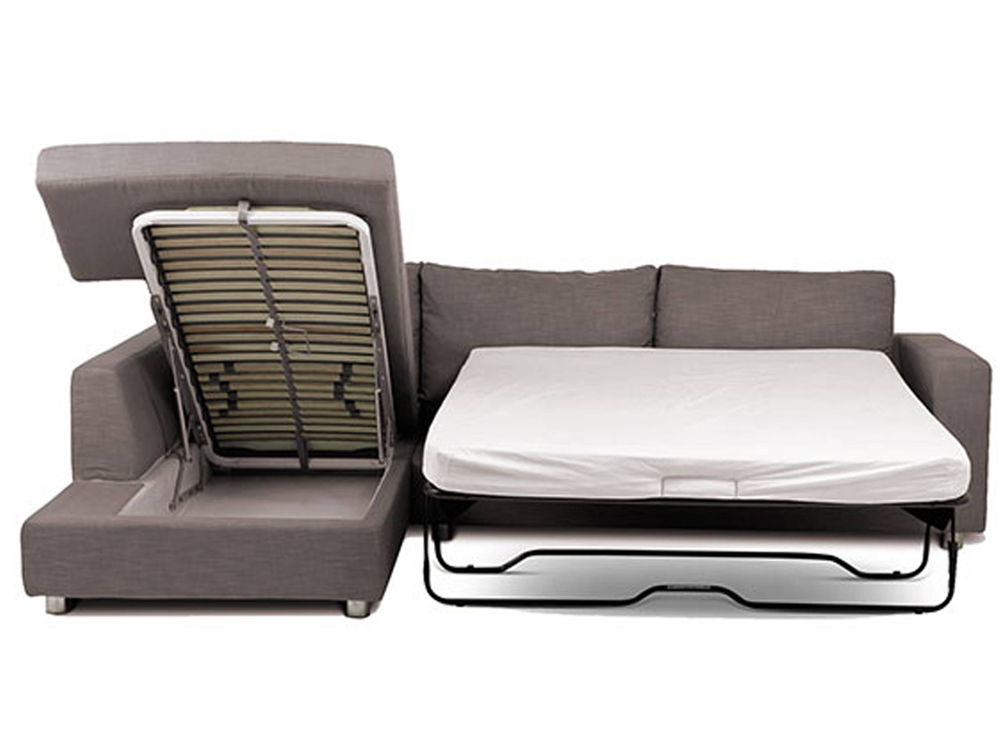 Mondo Storage - Corner Sofa Bed | Loungelovers in Chaise Longue Sofa Beds (Image 10 of 15)