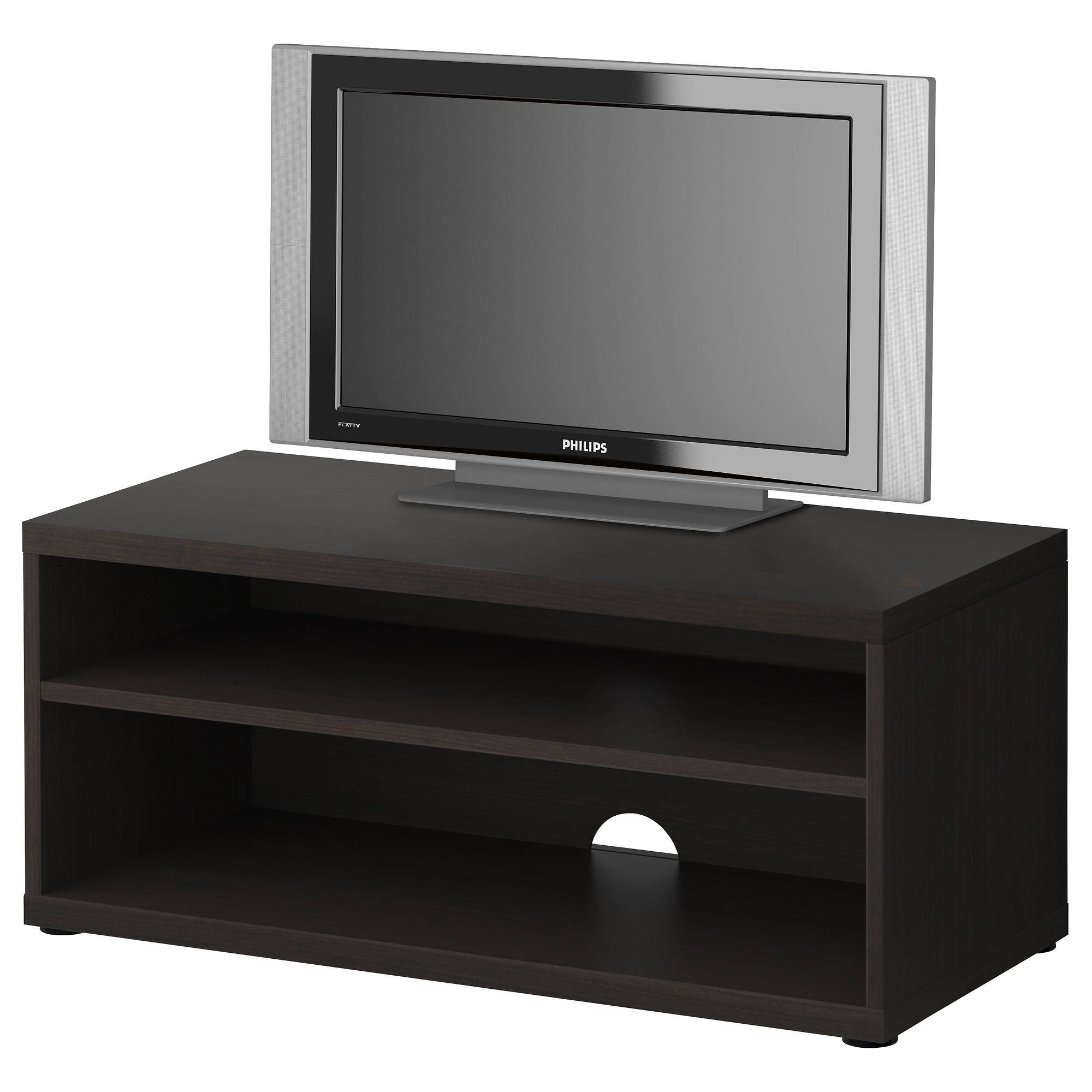 Mosjö Tv Bench Black Brown 90x40x38 Cm – Ikea Within Tv Stands With Drawers And Shelves (View 6 of 15)