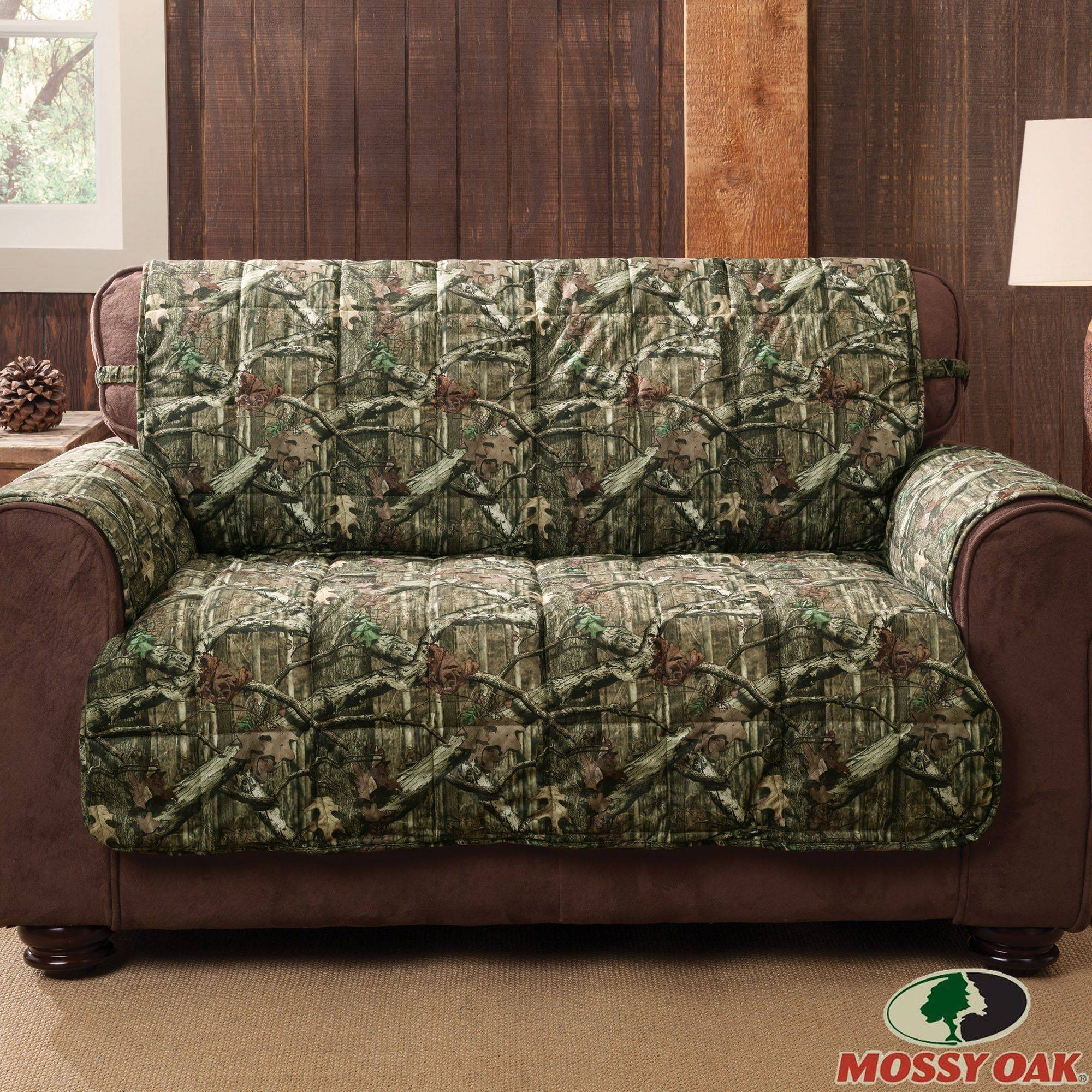 Mossy Oak Break Up Infinity Camo Furniture Protectors for Camo Reclining Sofas (Image 14 of 15)