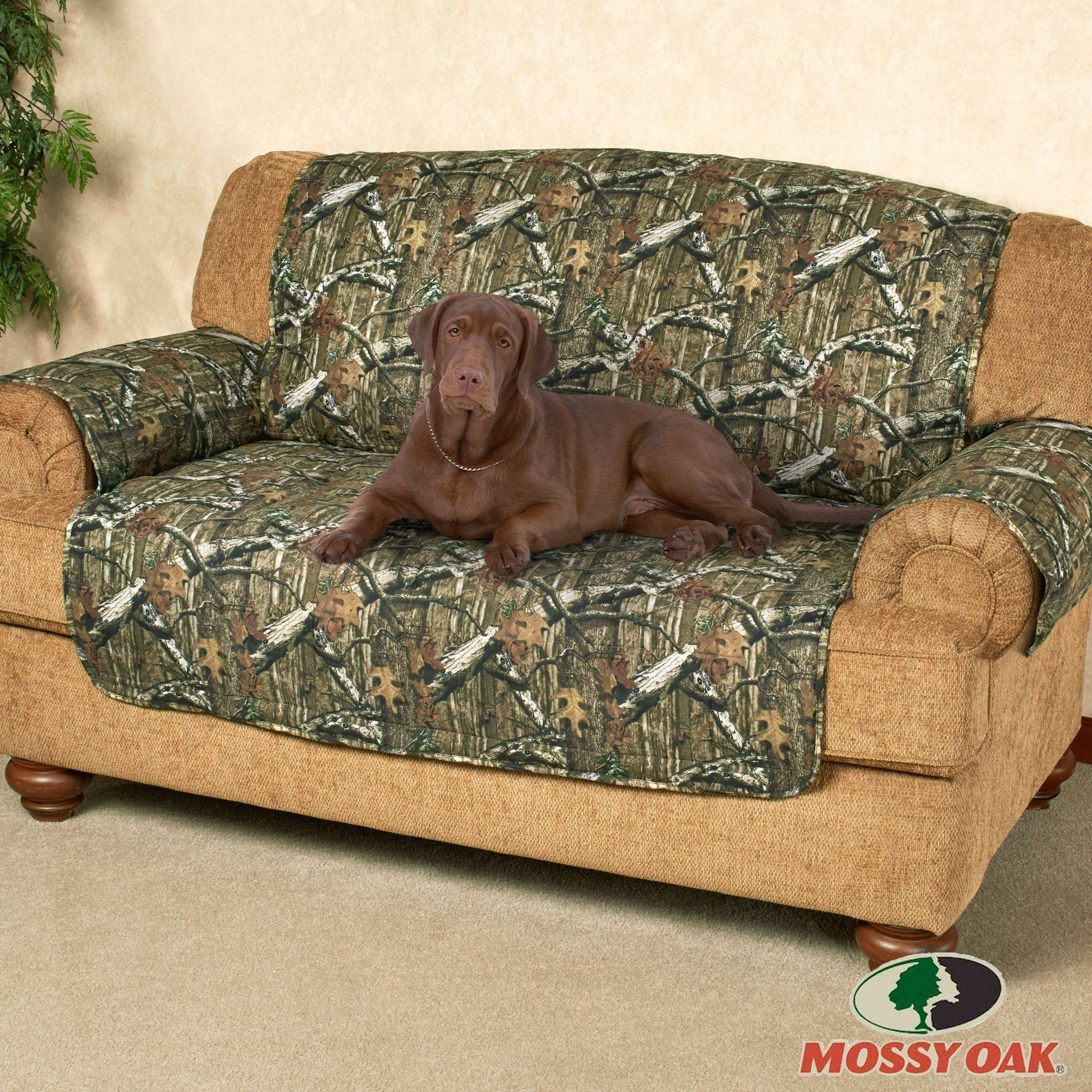 Mossy Oak Break Up Infinity Camo Furniture Protectors pertaining to Sofa and Loveseat Covers (Image 10 of 15)