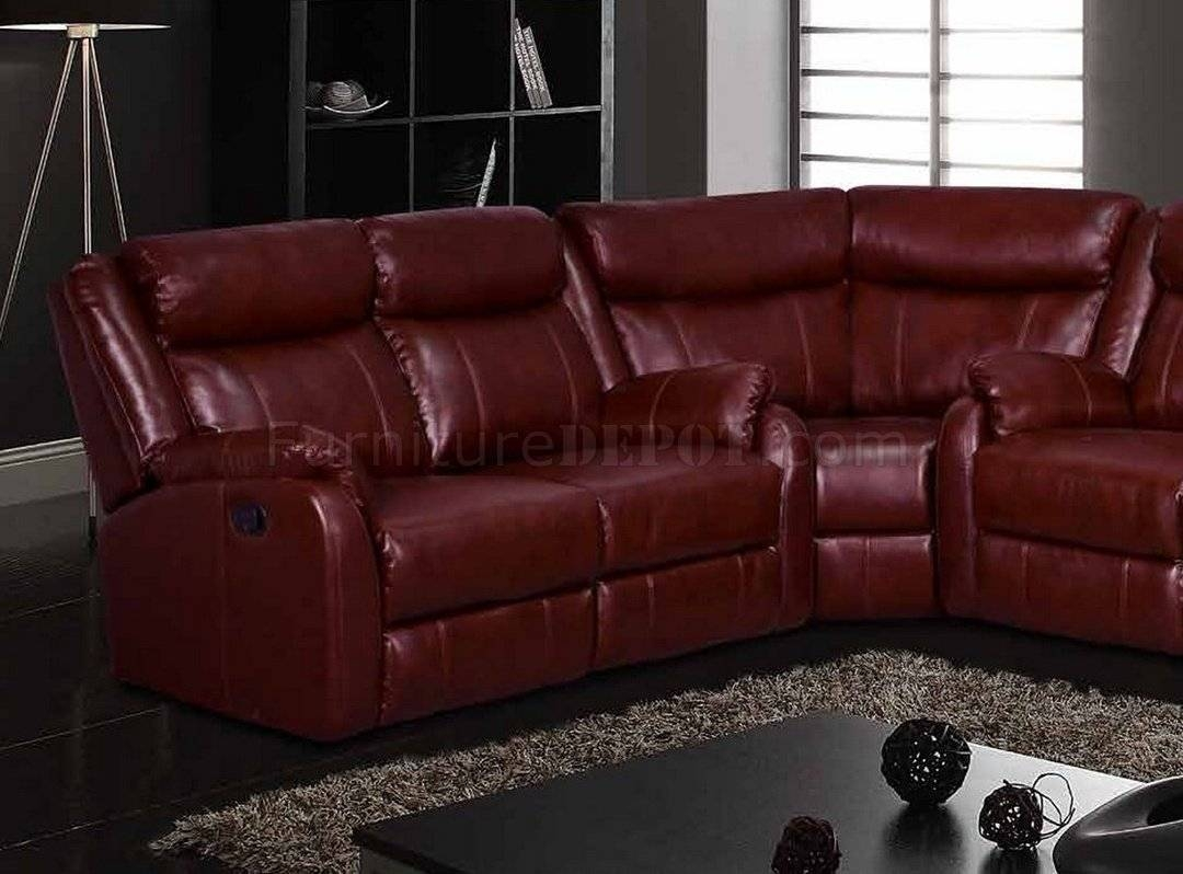 Motion Sectional Sofa In Burgundyglobal intended for Burgundy Sectional Sofas (Image 8 of 15)