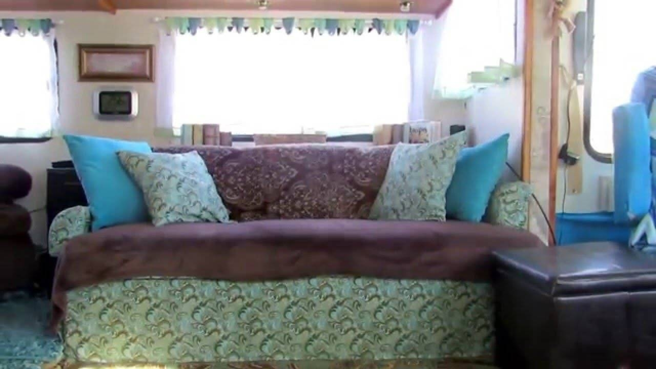 Motorhome Jack Knife Sofa Recover - Youtube throughout Reupholster Sofas Cushions (Image 14 of 15)