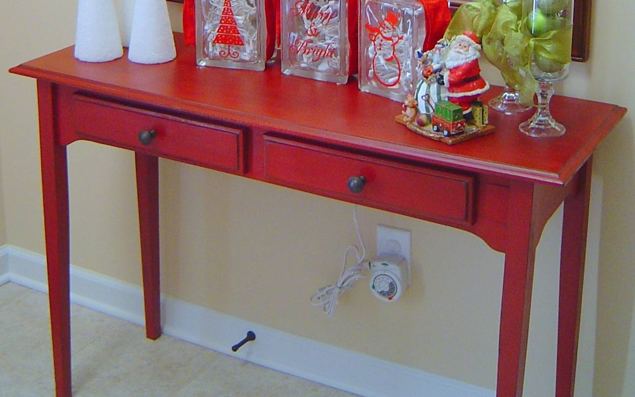 My Red Entry Table pertaining to Red Sofa Tables (Image 4 of 15)
