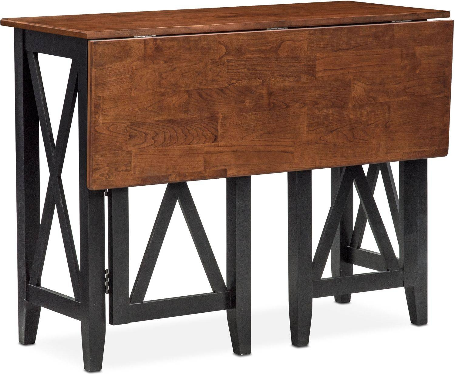 Nantucket Breakfast Bar And 2 Counter-Height Stools - Black And for Counter Height Sofa Tables (Image 5 of 15)