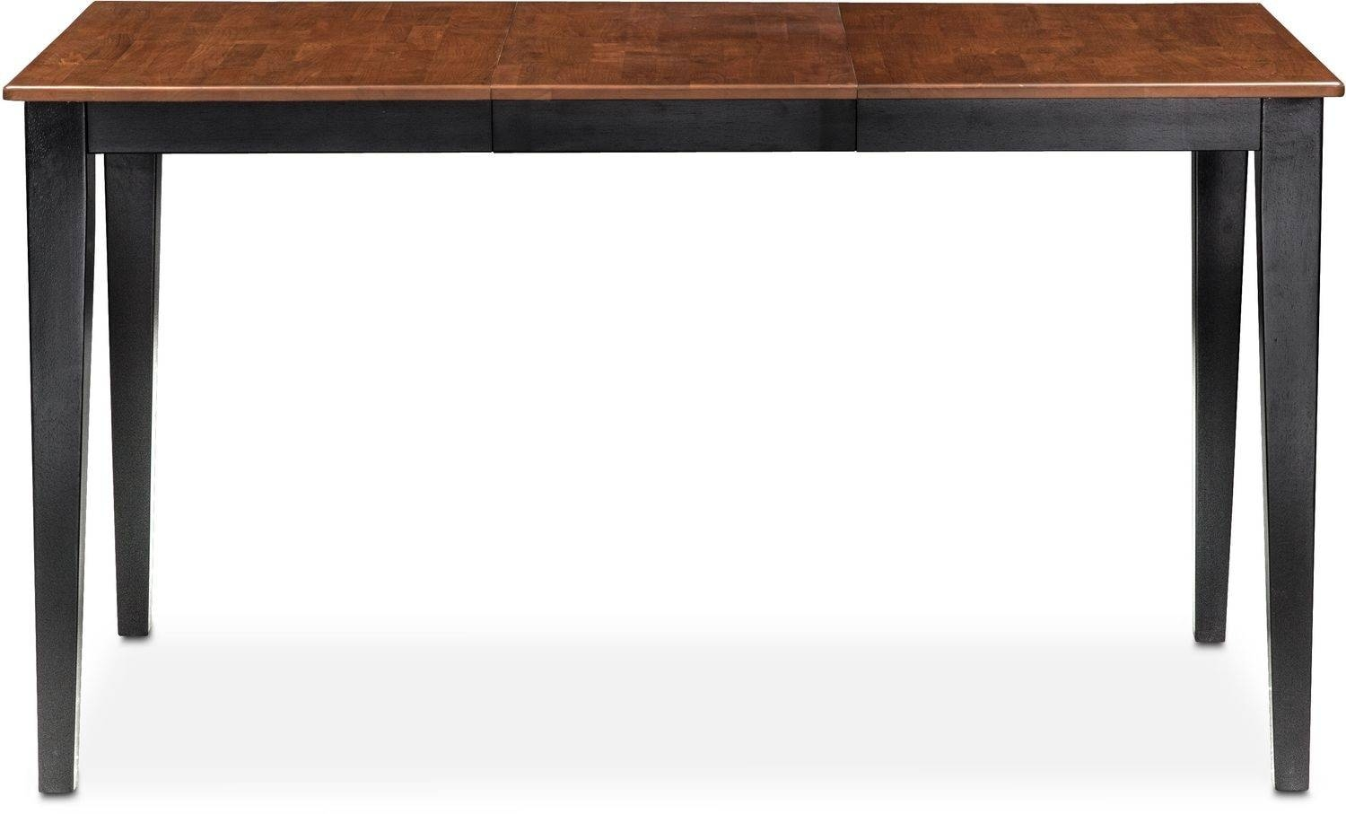 Nantucket Counter-Height Table - Black And Cherry | Value City throughout Counter Height Sofa Tables (Image 6 of 15)