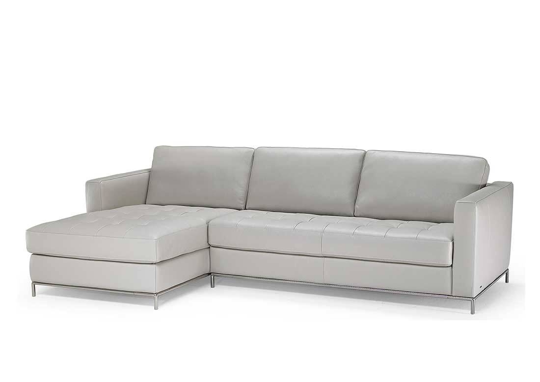 Natuzzi Grey Top Grain Leather Sectional Sofa B805 | Natuzzi Sofa with regard to Natuzzi Microfiber Sectional Sofas (Image 6 of 15)