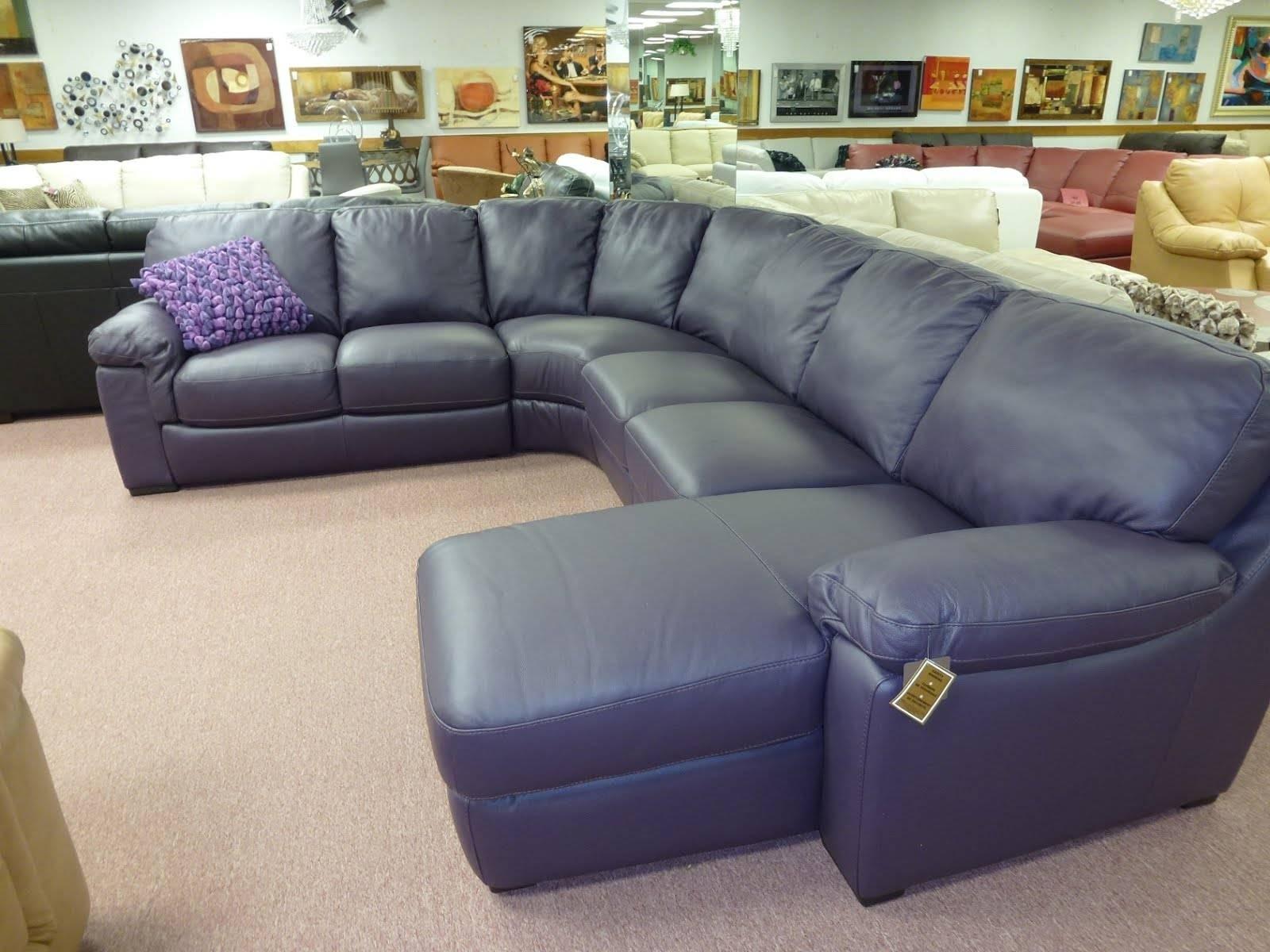 Natuzzi Leather Sectional Sofa 95 With Natuzzi Leather Sectional intended for Blue Leather Sectional Sofas (Image 11 of 15)