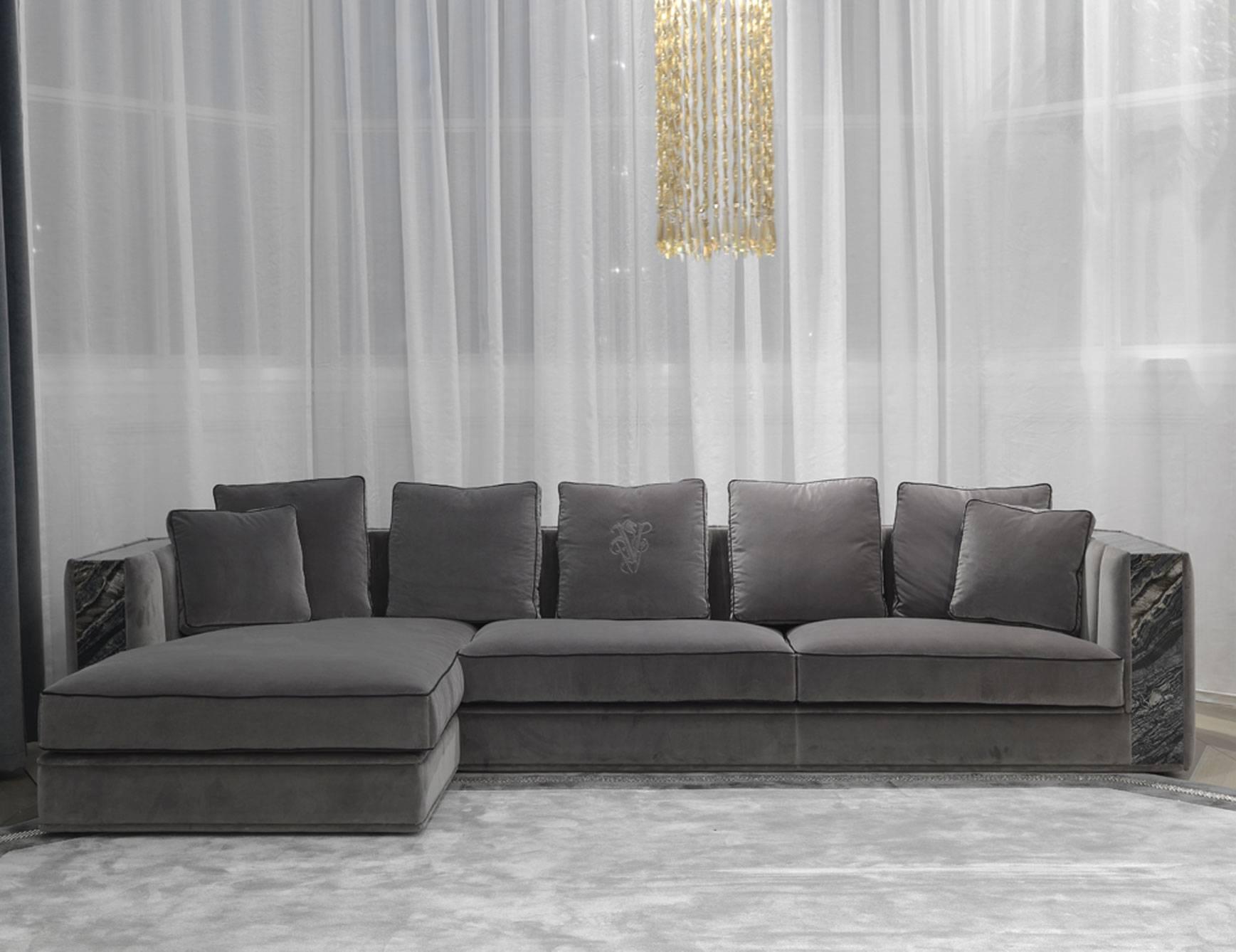 Nella Vetrina Visionnaire Ipe Cavalli Davis Grey Sofa In intended for Davis Sofas (Image 13 of 15)