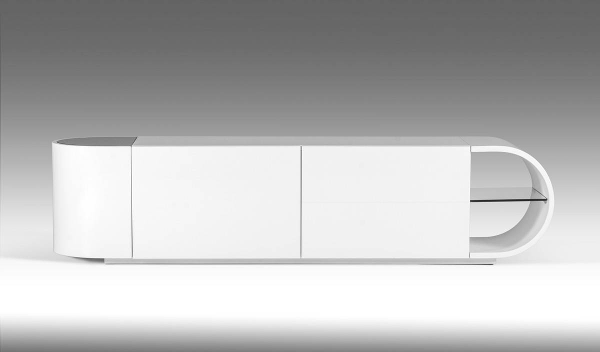 Nelly Modern White Glossy Tv Stand Within Contemporary White Tv Stands (View 3 of 15)