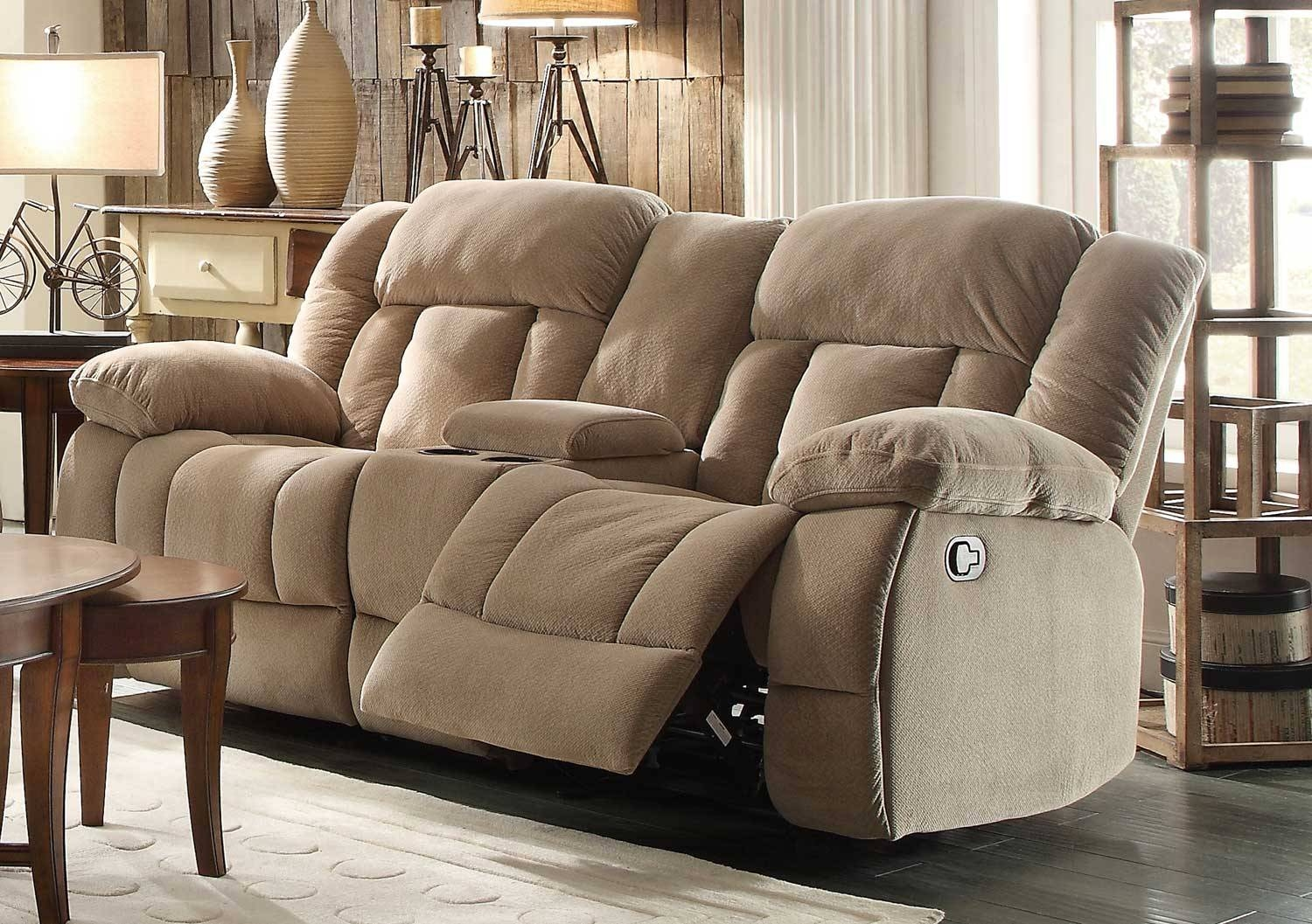 New Double Recliner Sofa With Console 17 Sofas And Couches Set In Sofas With Console (View 13 of 15)