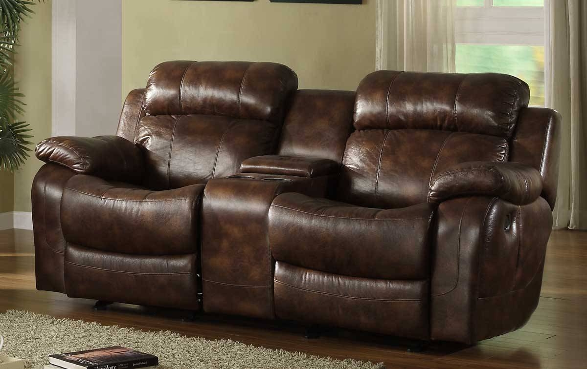 New Double Recliner Sofa With Console 17 Sofas And Couches Set Intended For Sofas With Console (View 14 of 15)