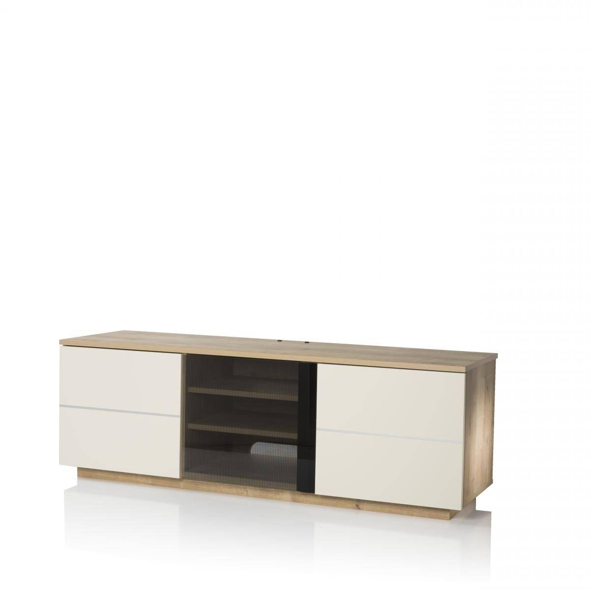 New London 150Cm Tv Cabinet Oak /cream | Nldn Oak Cr With Cream Tv Cabinets (Photo 3 of 15)