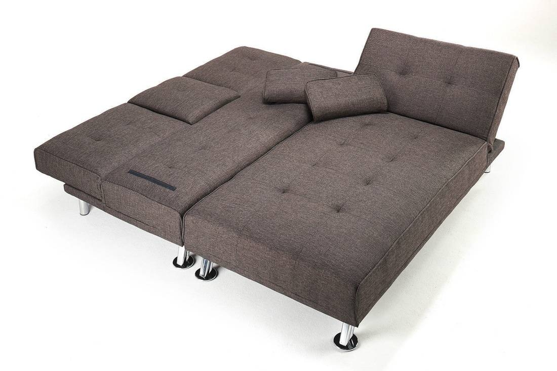 New York Fabric Sofa Bed - Hi 5 Home Furniture in Chaise Longue Sofa Beds (Image 11 of 15)