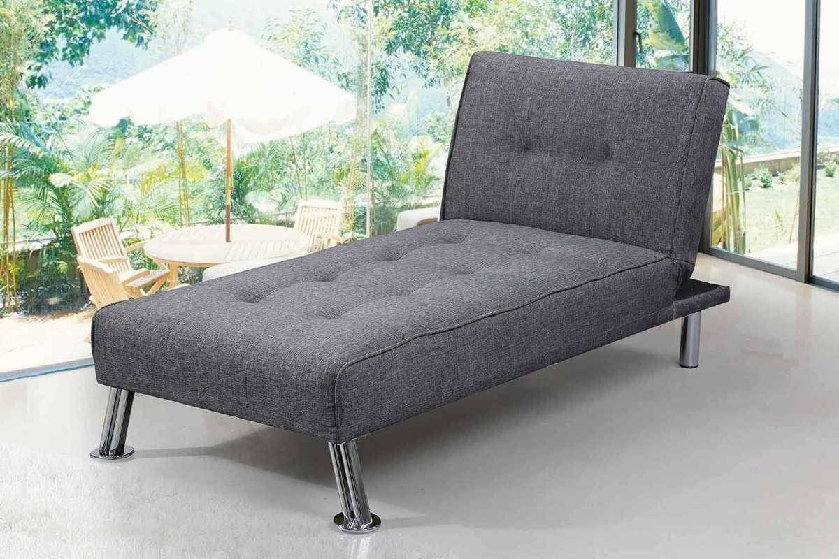 New York Single Seater Fabric Fold Down Chaise Longue Lime Grey regarding Chaise Longue Sofa Beds (Image 12 of 15)