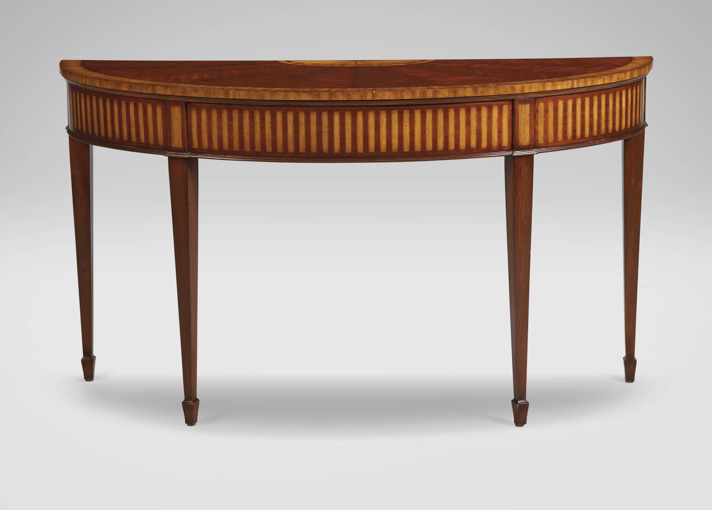 Newman Demilune Sofa Table | Console Tables within Slim Sofa Tables (Image 8 of 15)