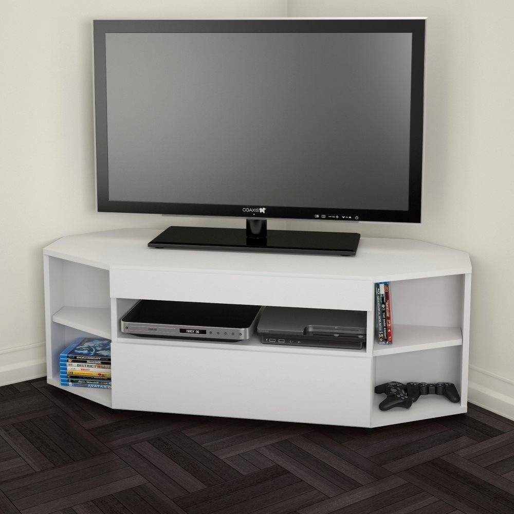 Nexera 226103 Blvd 48 Inch Corner Tv Stand | Lowe's Canada For Corner Tv Stands (Photo 14 of 15)