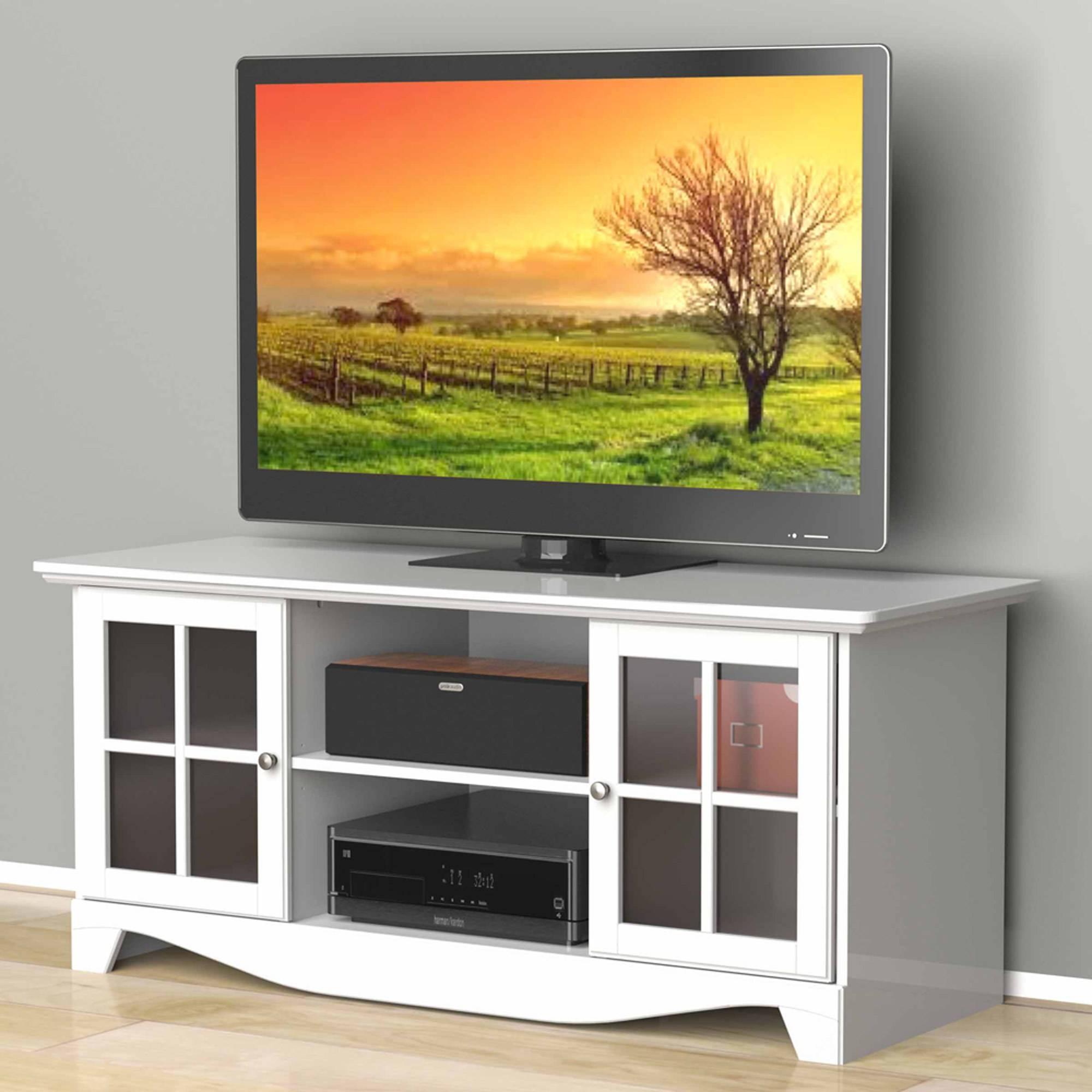 """Nexera Pinnacle White Hec Tv Stand For Tvs Up To 56"""" – Walmart Within Nexera Tv Stands (View 4 of 15)"""