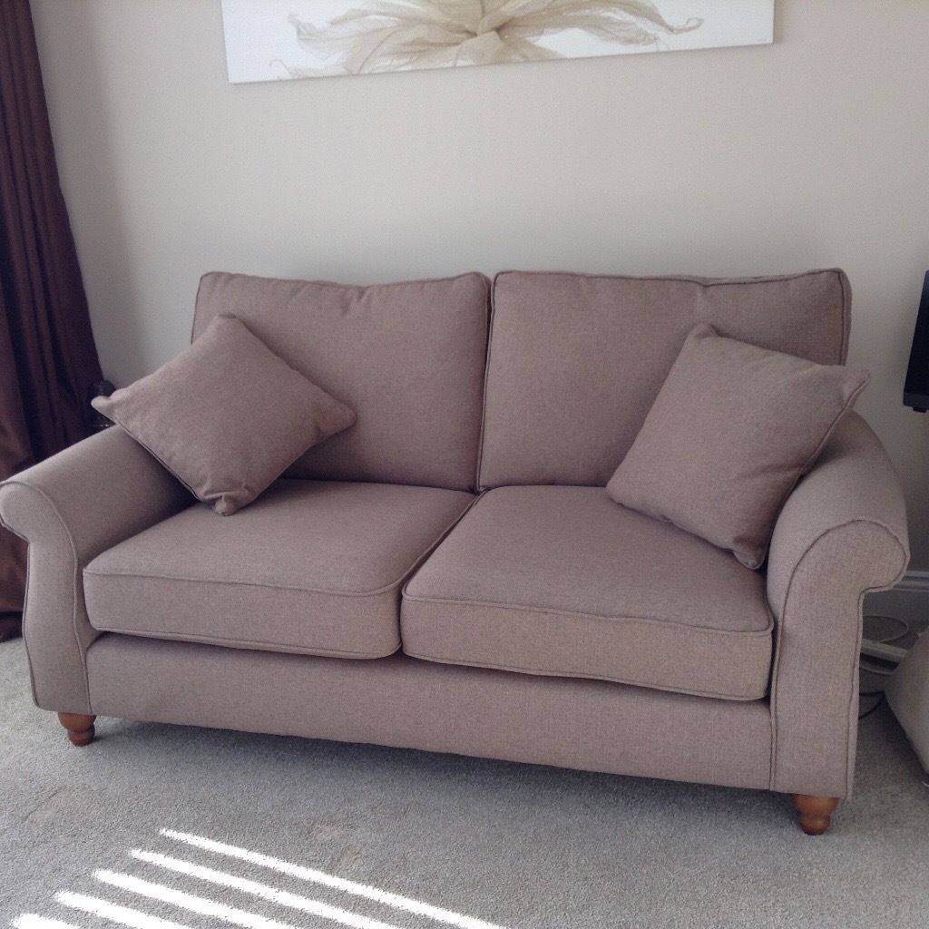 Next Ashford Sofa Medium Tweedy Blend Mid Natural 3 Seater | In Pertaining To Ashford Sofas (Photo 8 of 15)
