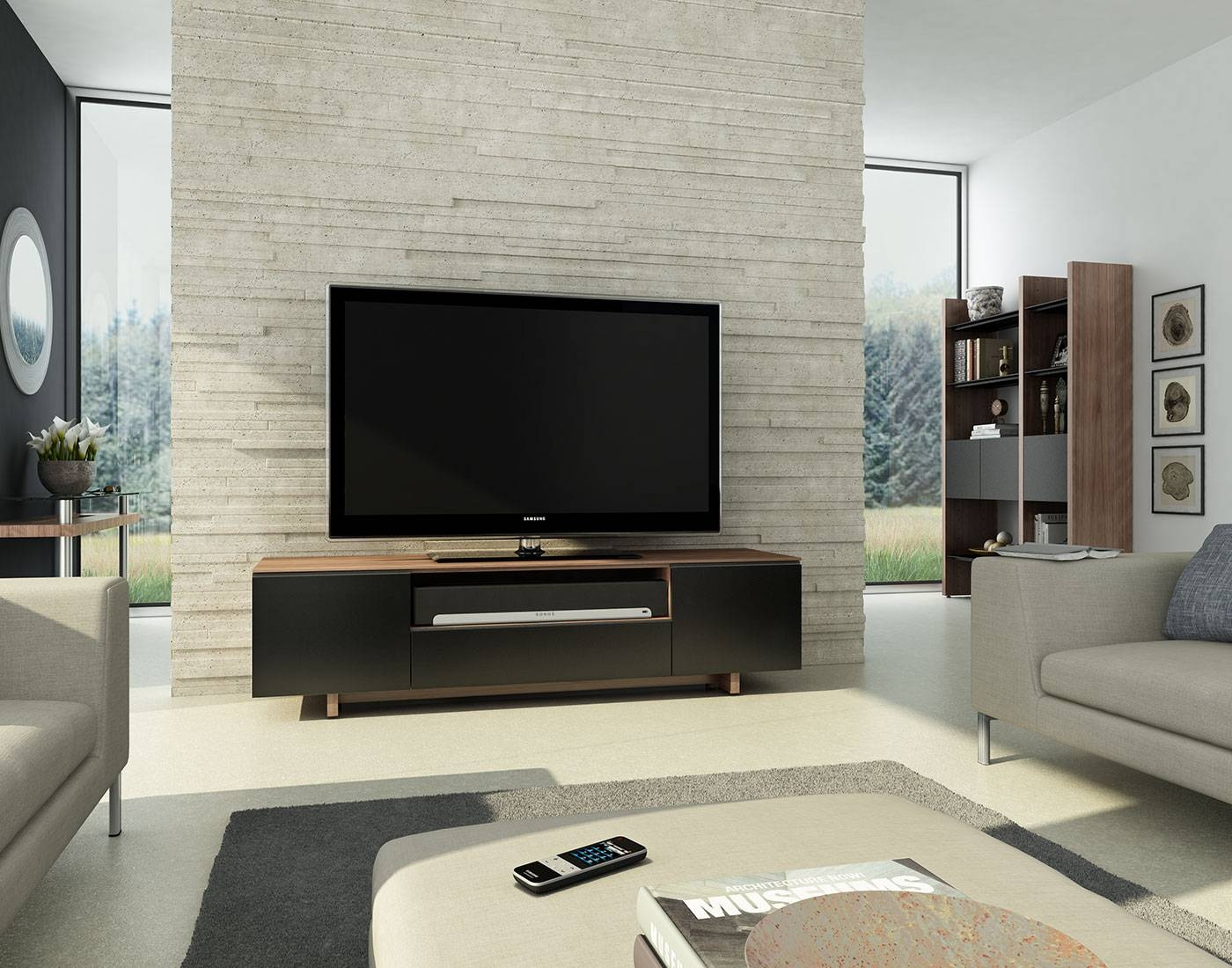 Nora 8239 Tv Stand   Bdi Designer Tv Stands And Cabinets For Home With Sonos Tv Stands (Photo 9 of 15)
