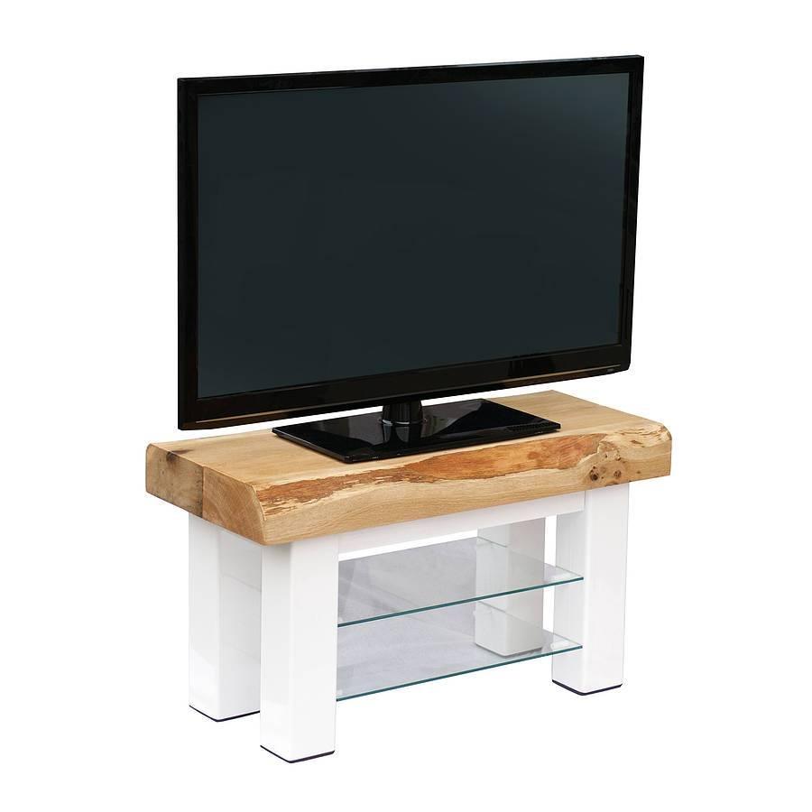 Oak And Iron Medium Tv Standoak & Iron Furniture in Tv Stands in Oak (Image 7 of 15)