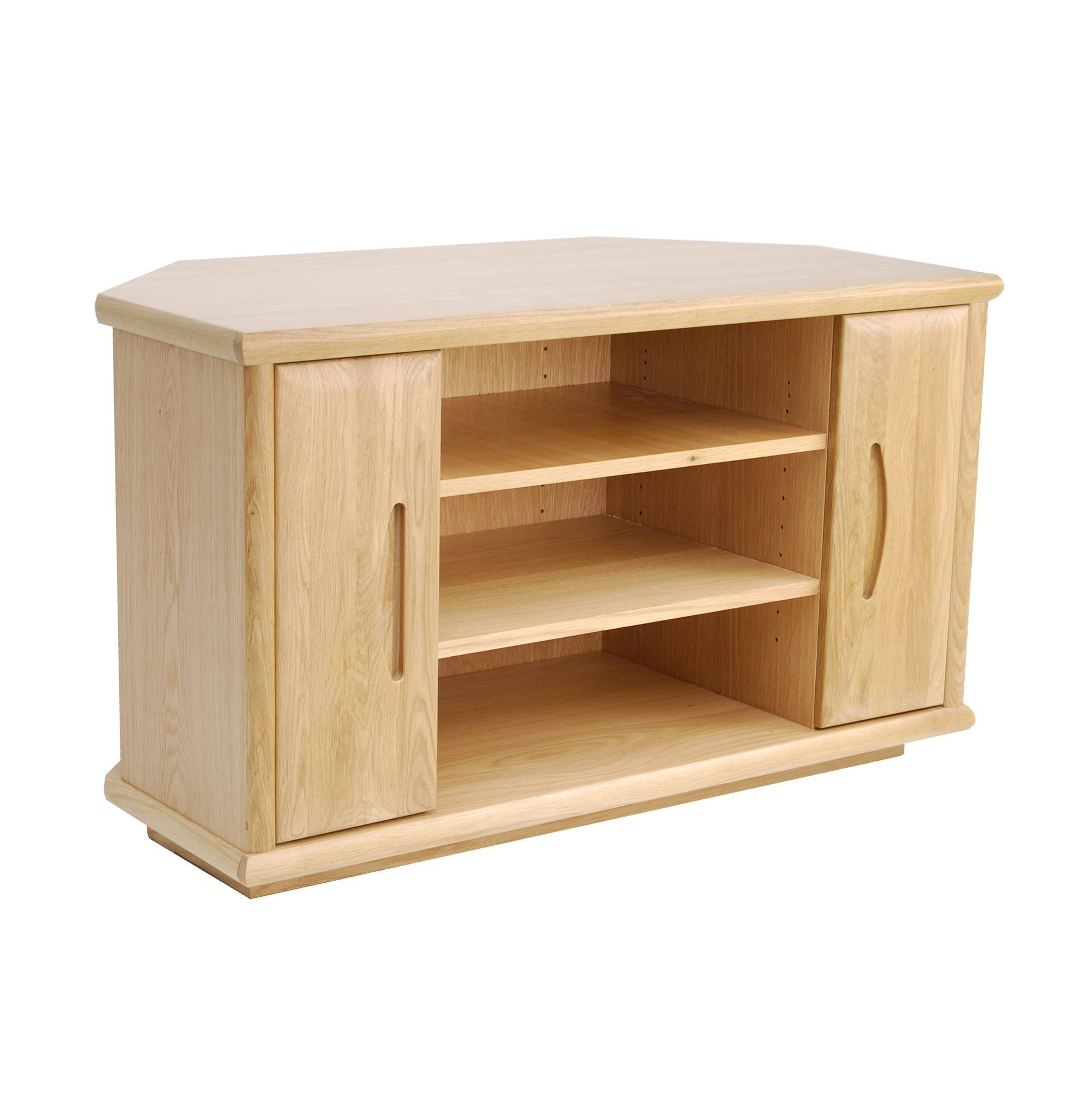 Oak Corner Tv Stand | Gola Furniture Uk inside Small Oak Corner Tv Stands (Image 5 of 15)