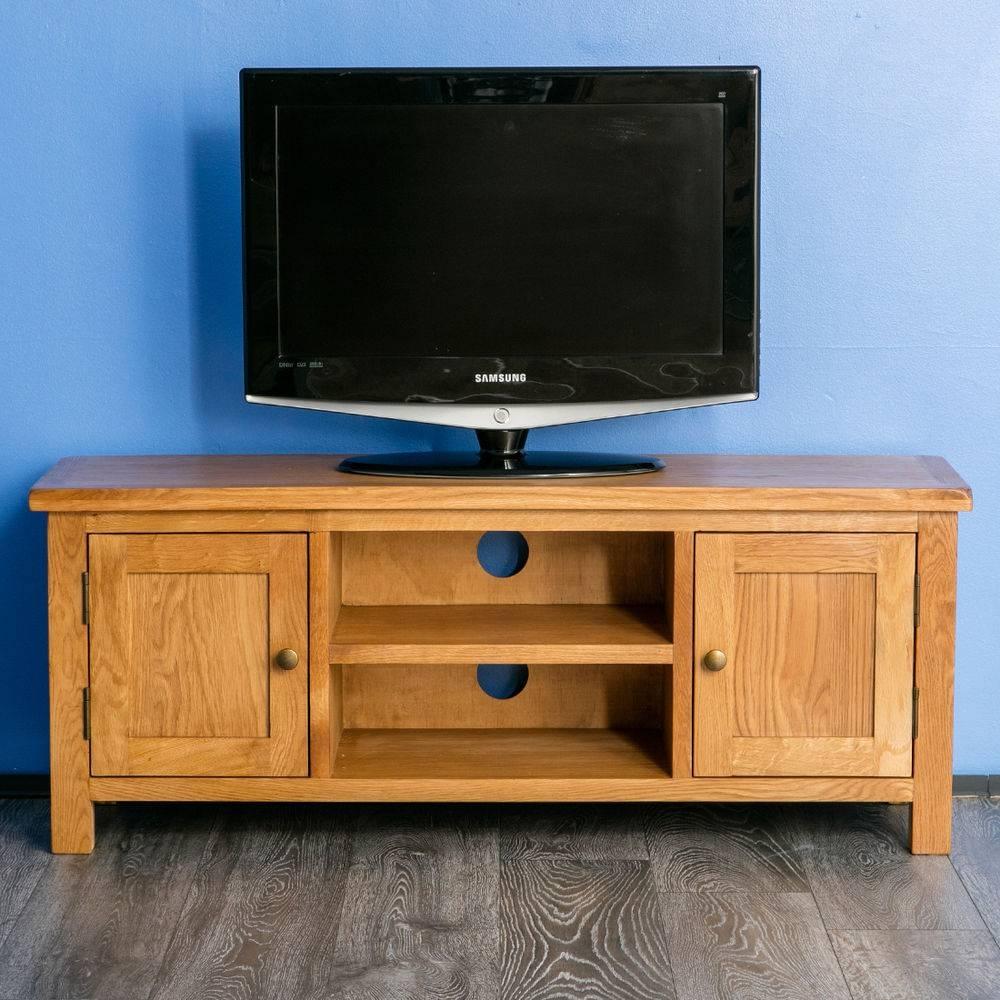 Oak Tv Cabinet | Ebay regarding Oak Tv Cabinets For Flat Screens (Image 5 of 15)