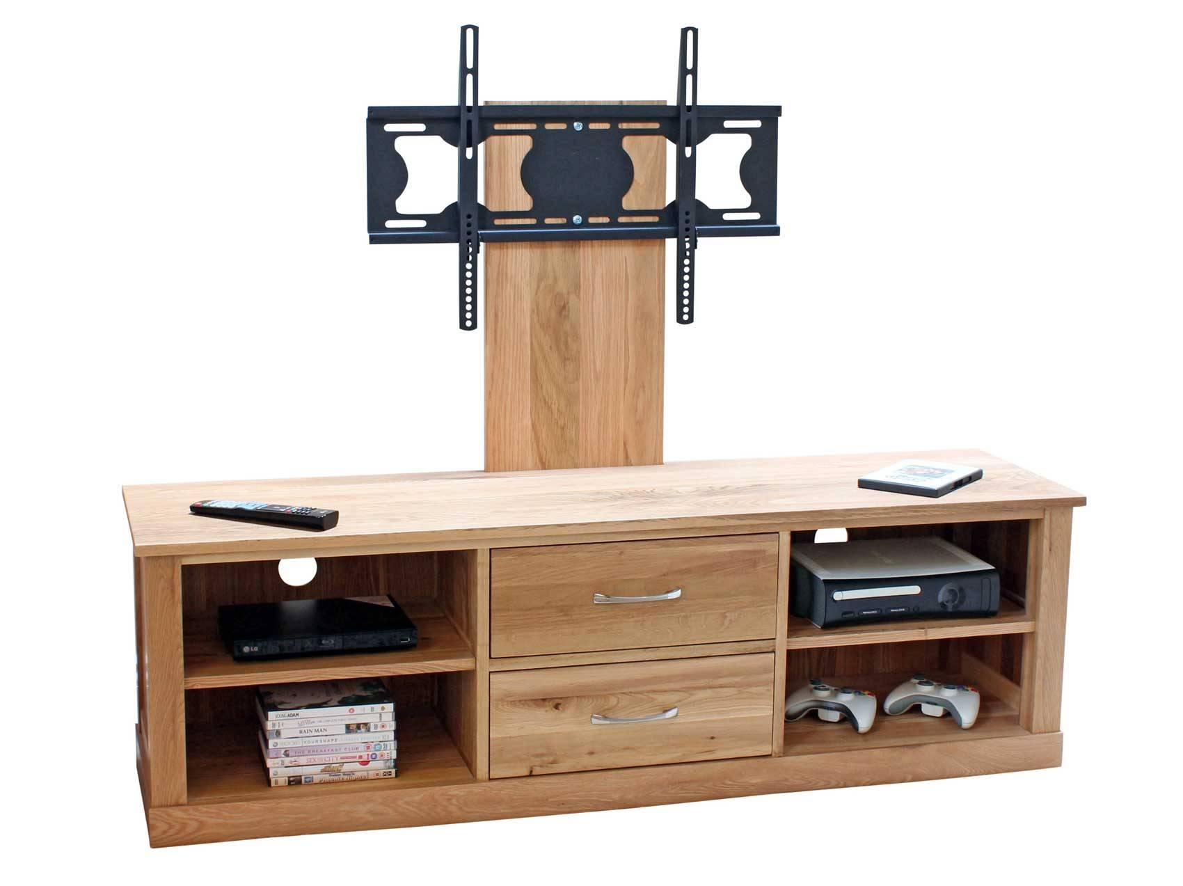 Oak Wooden Tv Stand With Mount For Flat Screen Of 14 Gorgeous Throughout Oak Tv Cabinets For Flat Screens With Doors (View 6 of 15)