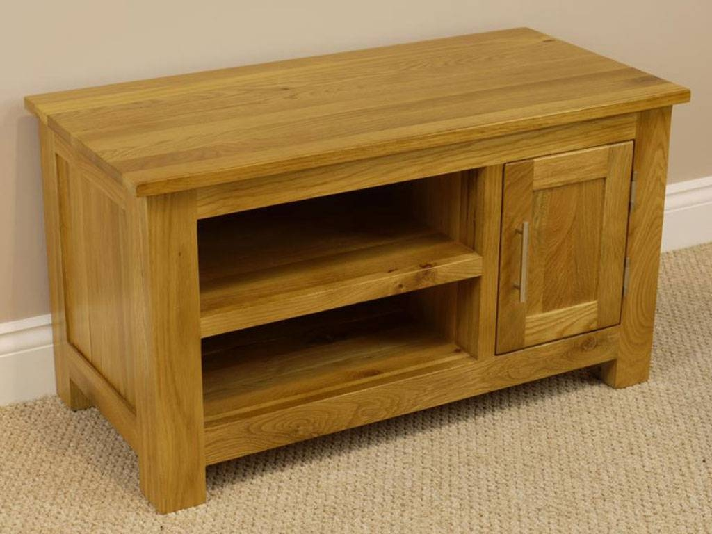 Oakland Chunky Oak Small Tv Unit / Plasma Tv Stand / Small Tv For Small Oak Tv Cabinets (View 10 of 15)