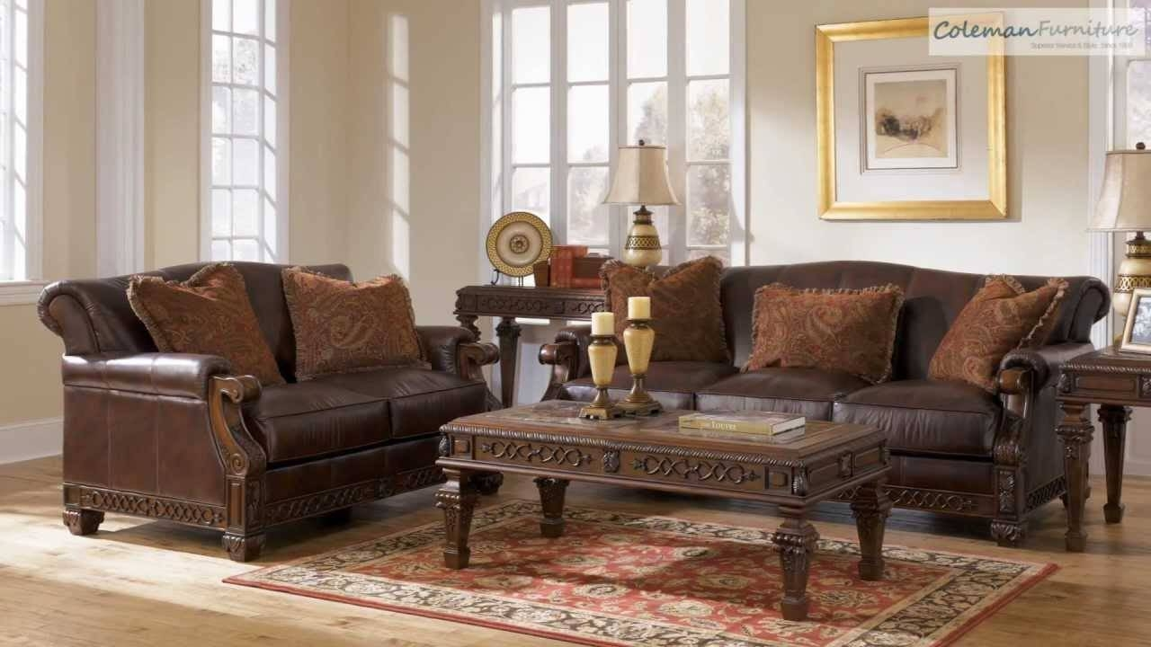 Oakmere Truffle Living Room Collection From Signature Design in Bradington Truffle (Image 12 of 15)