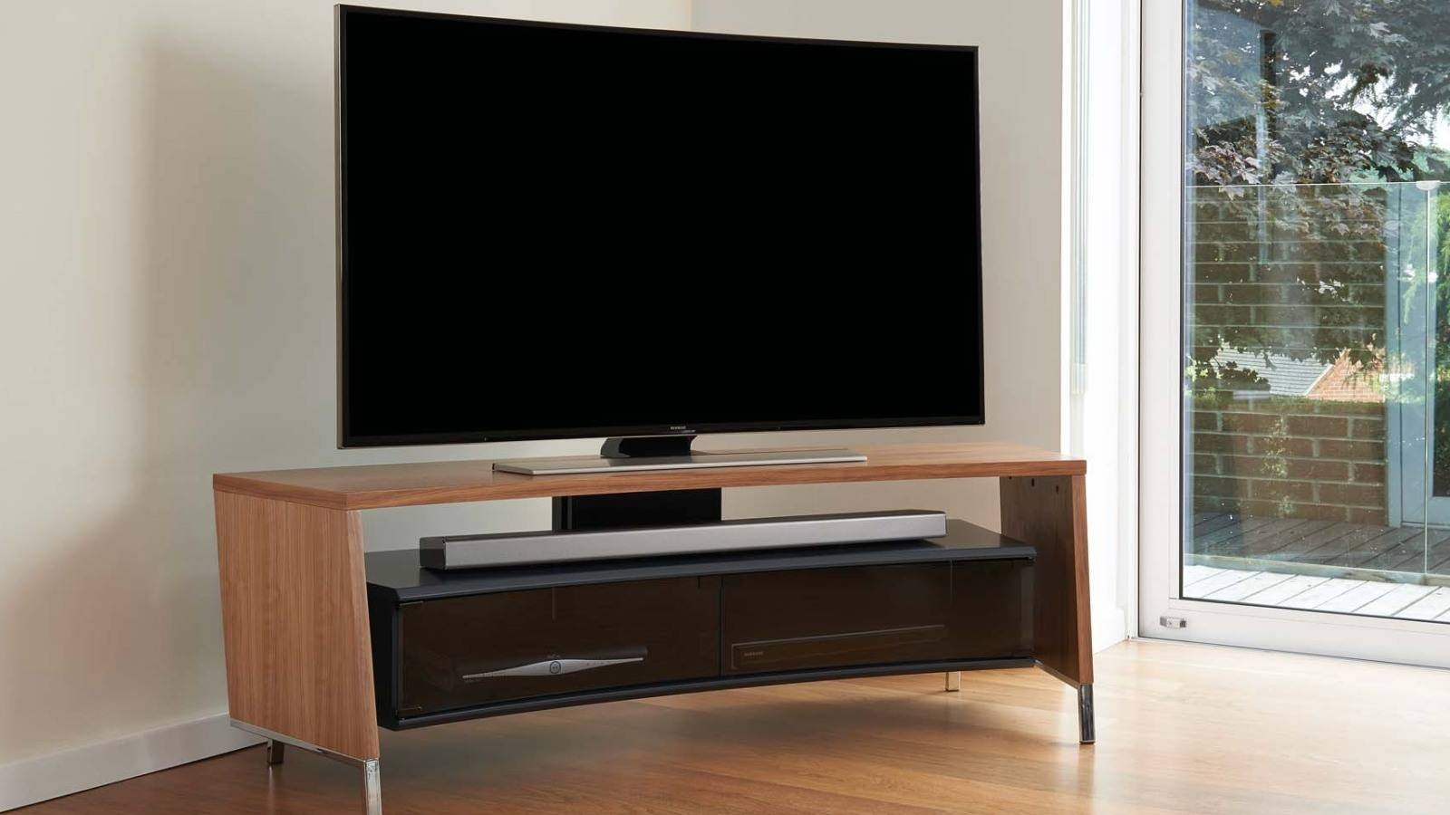 Off The Wall – Flat Screen Tv Stands with Curve Tv Stands (Image 11 of 15)