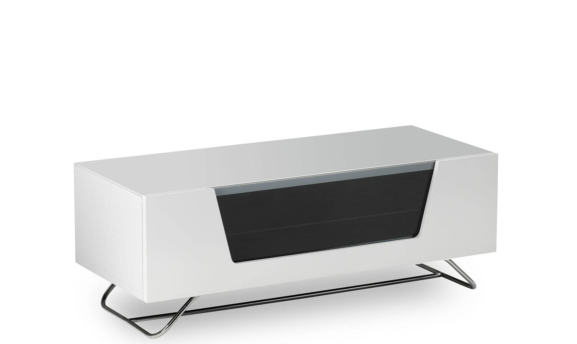 Omega – White High Gloss Tv Unit – Fishpools In Corner Tv Unit White Gloss (View 7 of 15)