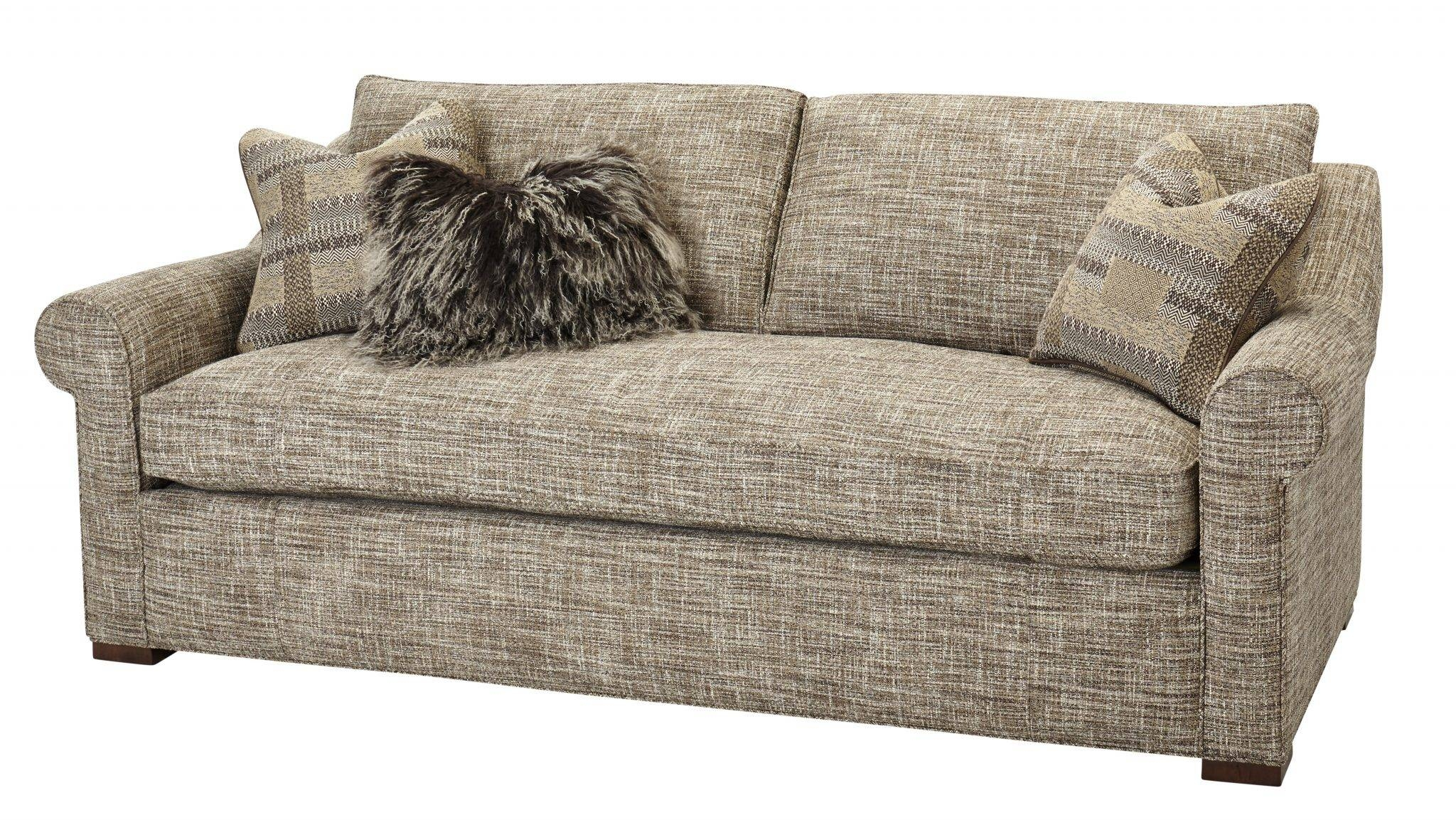 One Cushion Sofas - Massoud Furniture intended for Bench Cushion Sofas (Image 8 of 15)