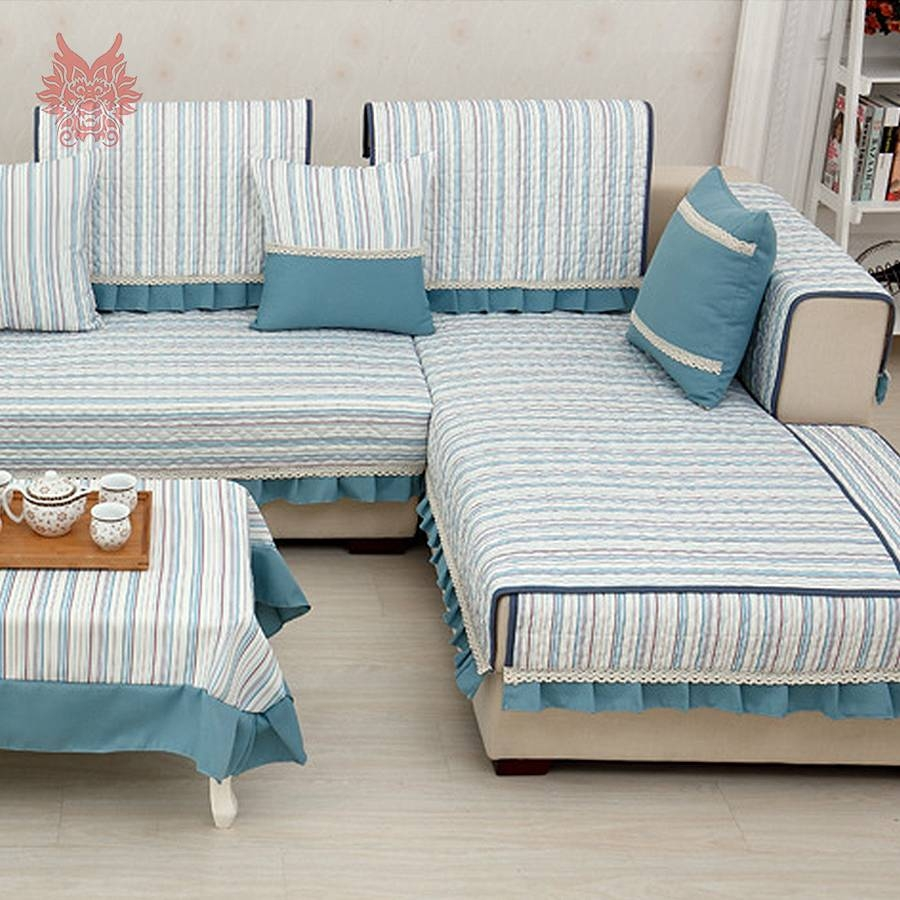 Online Get Cheap Sofa Cover Laces -Aliexpress | Alibaba Group throughout Striped Sofa Slipcovers (Image 7 of 15)