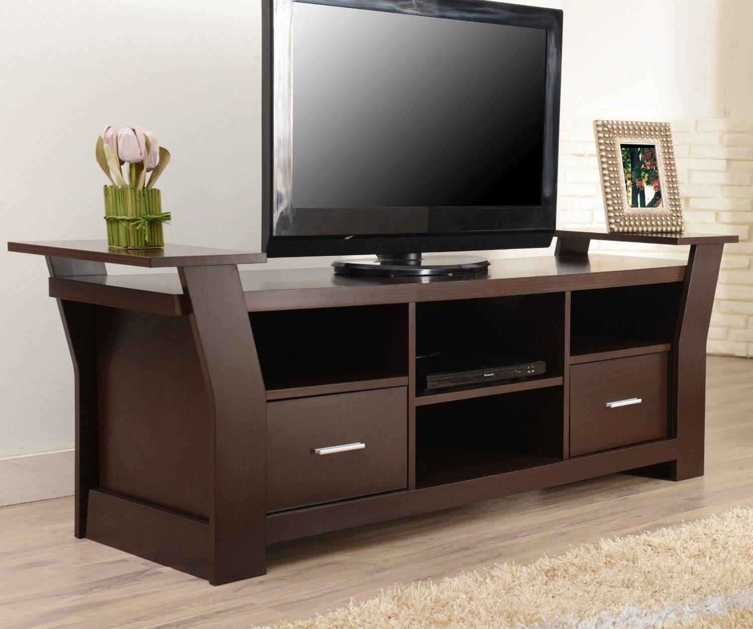 Open Tv Stands, Tv Stands Contemporary Tv Console With Open inside Storage Tv Stands (Image 8 of 15)