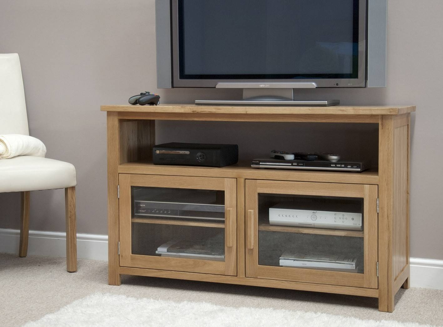 Opus Solid Oak Tv/entertainment Unit | Oak Furniture Uk inside Tv Entertainment Unit (Image 5 of 15)