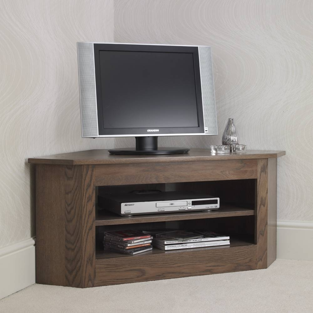 Ora Mixed Oak Small Open Corner Tv Unit - Con-Tempo Furniture with regard to Corner Tv Units (Image 6 of 15)