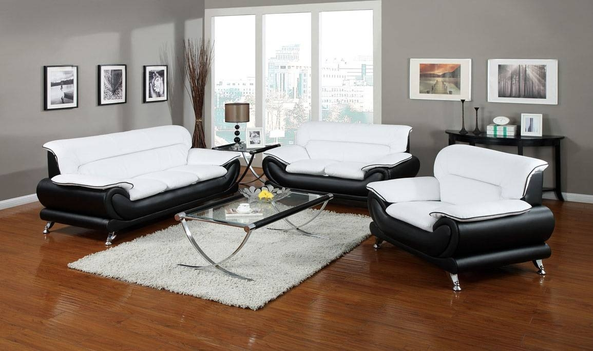 Orel White Sofa And Loveseat (50455) With Regard To Black And White Sofas And Loveseats (View 2 of 15)