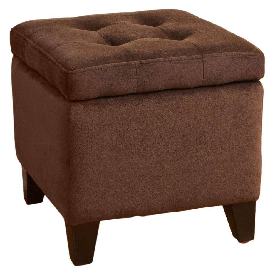 Ottomans : Chocolate Leather Ottoman Microsuede Ottoman Brown Inside Cindy Crawford Microfiber Sofas (Photo 15 of 15)