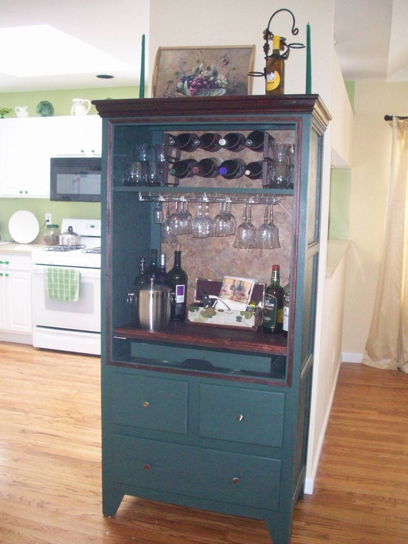 Outstanding About Us For Tv Armoire Open Doors Kate Madison in Cherry Tv Armoire (Image 9 of 15)