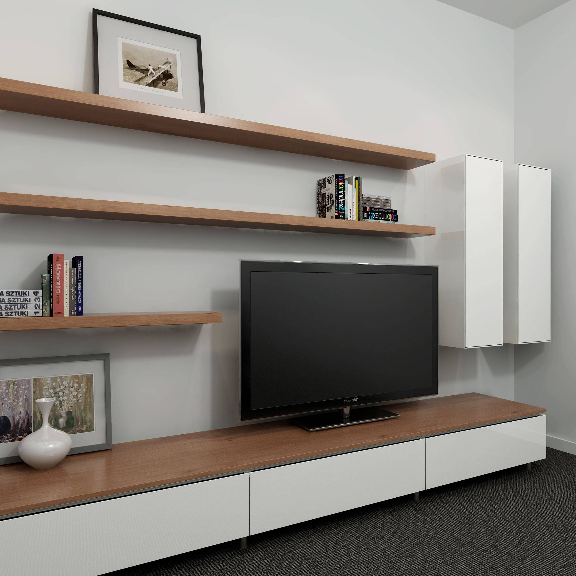 Outstanding Wall Mounted Entertainment Shelves Images Ideas intended for Tv Entertainment Unit (Image 6 of 15)