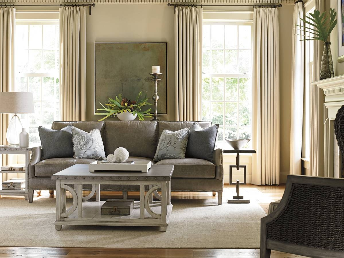 Oyster Bay Ashton Leather Sofa | Lexington Home Brands intended for Ashton Sofas (Image 14 of 15)