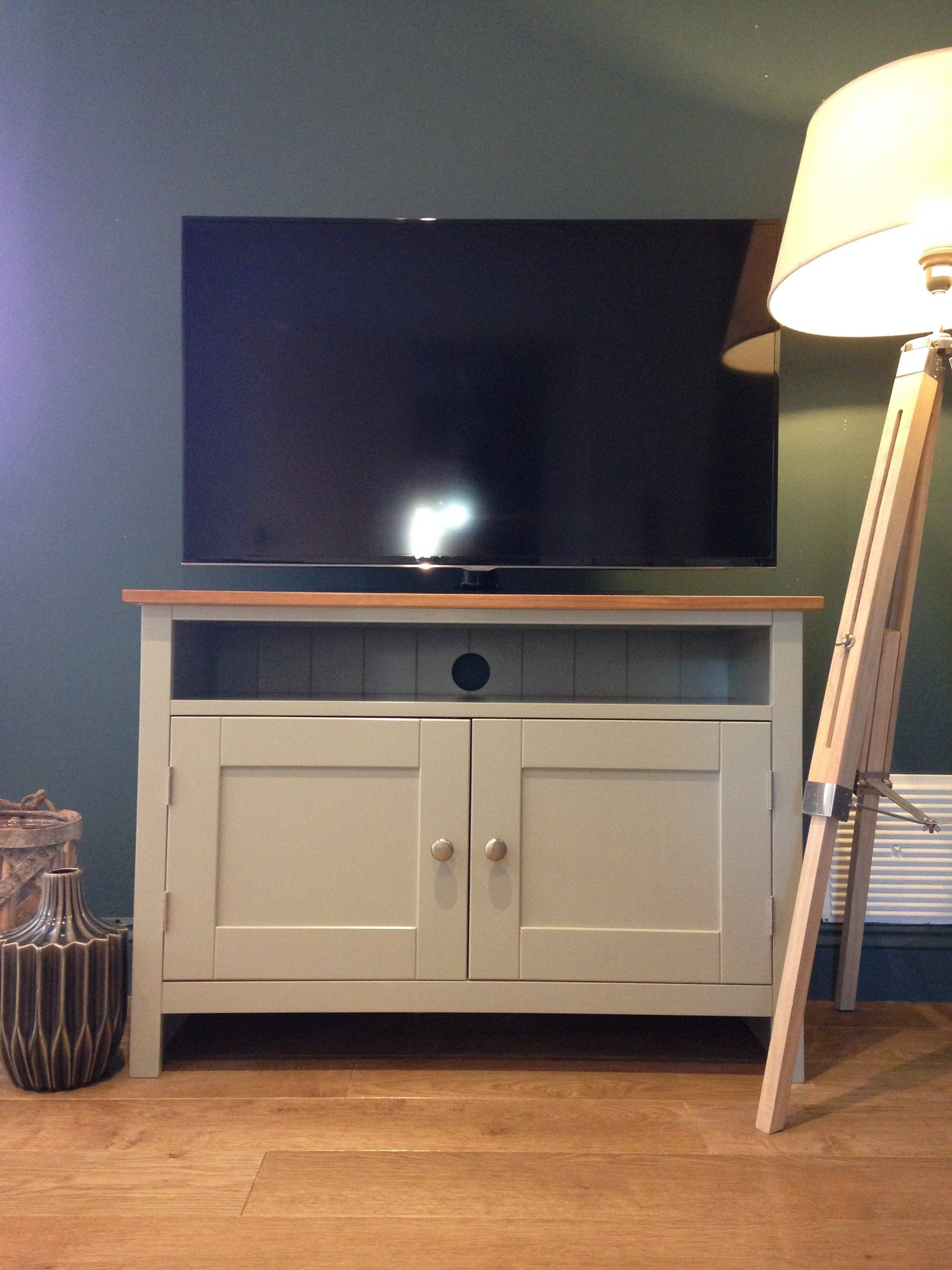 Painted Tv Cabinet | Tv Media Units | Solid Pine Tv Cabinet in Solid Pine Tv Cabinets (Image 9 of 15)